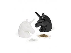 Slánka a pepřenka BALVI Unicorn, černá a bílá