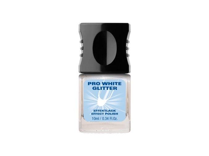 Pro white glitter 10 ml-opticky rozjasňující lak