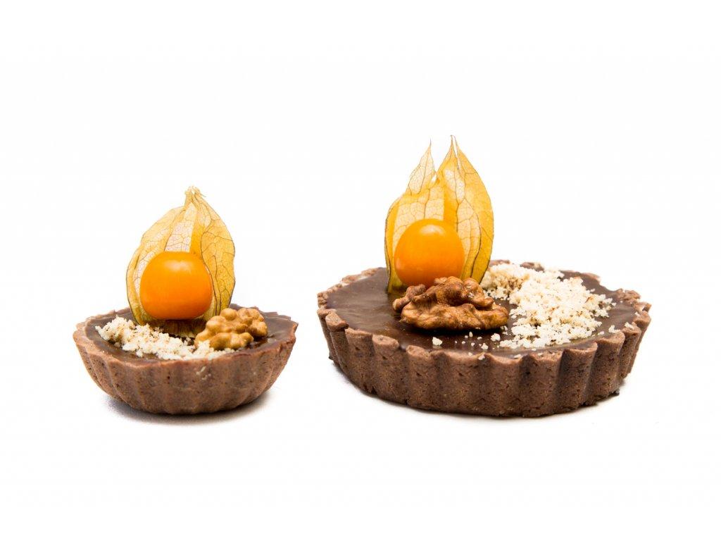 orechový tart mini