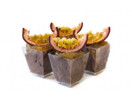 čokoládová pena s marakujou
