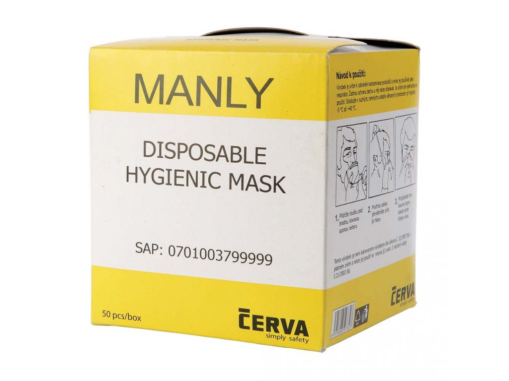 MANLY disposable hygienic mask