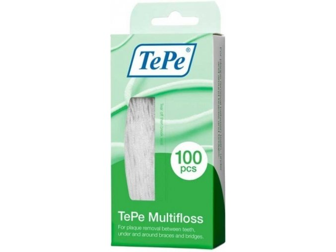 Zubní nit pro čištění implantátů a rovnátek TePe Multifloss