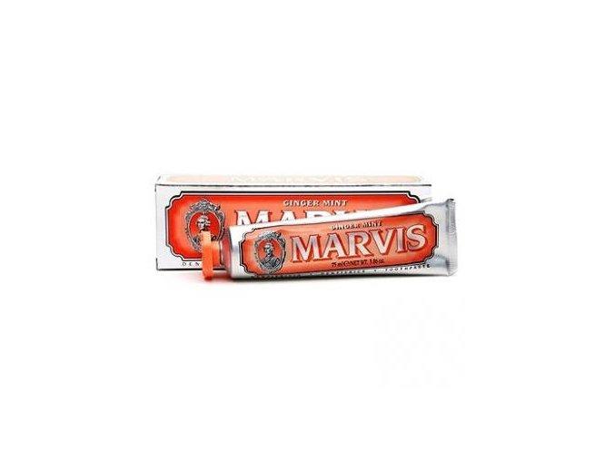 Zubní pasta bez fluoridů Marvis Ginger Mint 75 ml