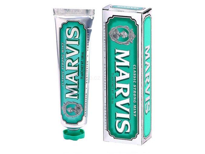 Zubní pasta bez fluoridu Marvis Classic Strong Mint 75 ml