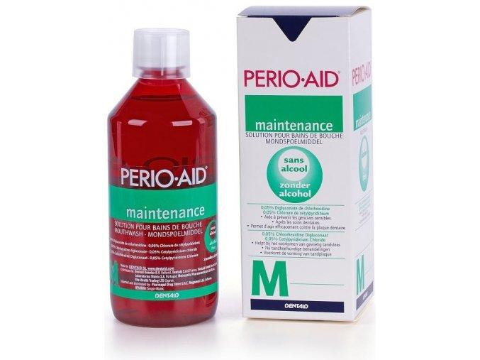 Ústní výplach PERIO AID Active Control s chlorhexidinem 0,05% 500 ml.