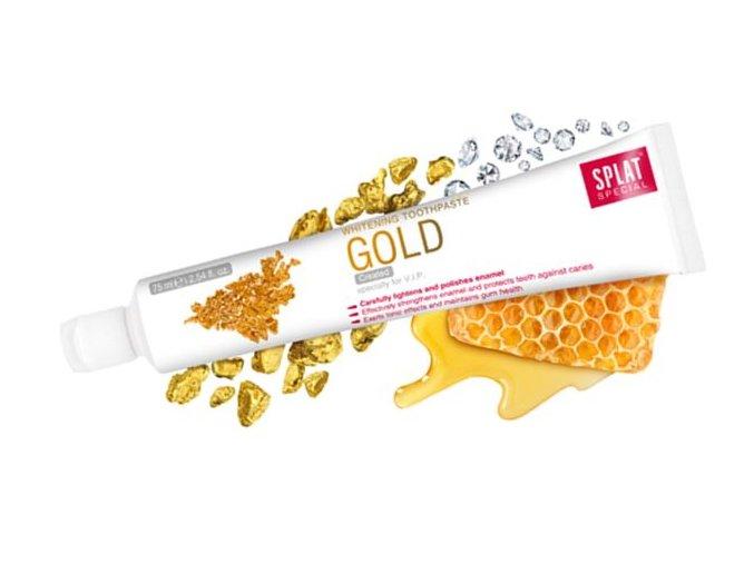 Bělící zubní pasta s extraktem z diamantů a zlata Splat Gold