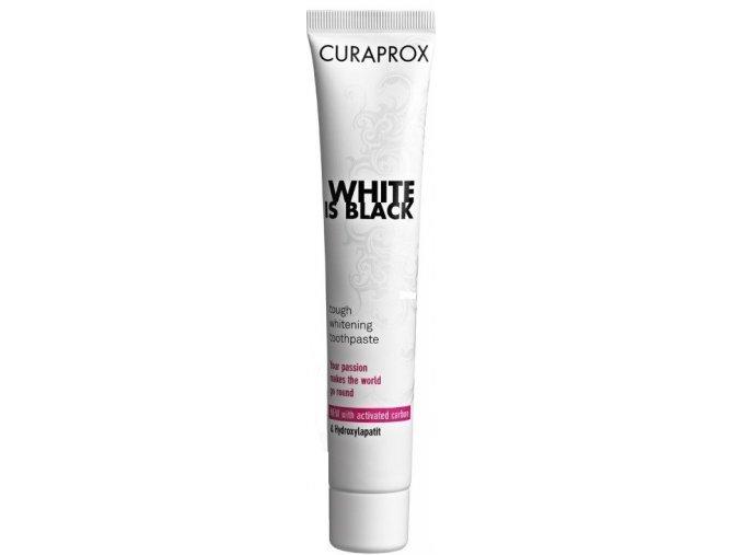 Bělící zubní pasta s enzymy Curaprox White is Black