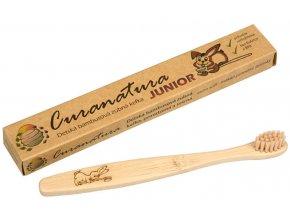 Bambusový dětský kartáček Curanatura Junior 3