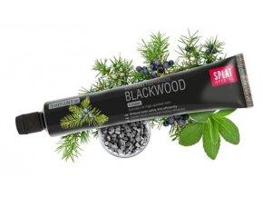 Bělící zubní pasta Splat Blackwood s aktivním uhlím a jalovcem