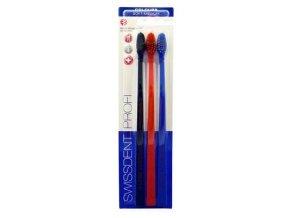 Zubní kartáček Swissdent Profi Soft Medium 2+1 zdarma