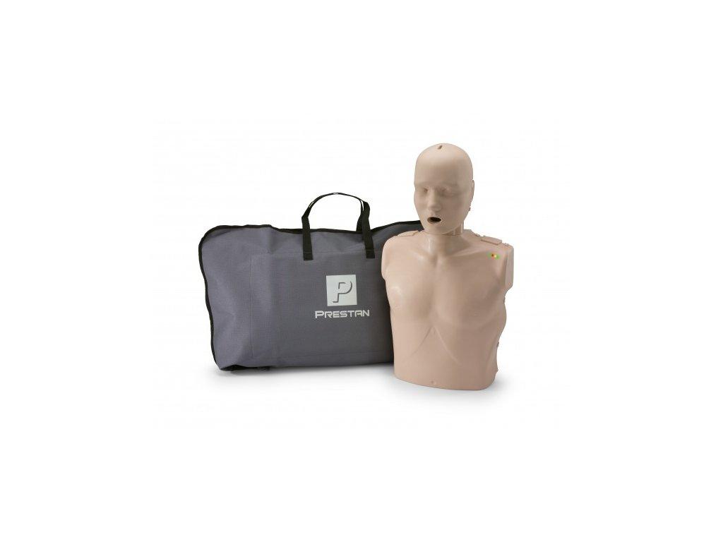 PRESTAN - s pohyblivou čelistí - figurína KPR dospělého s monitorem