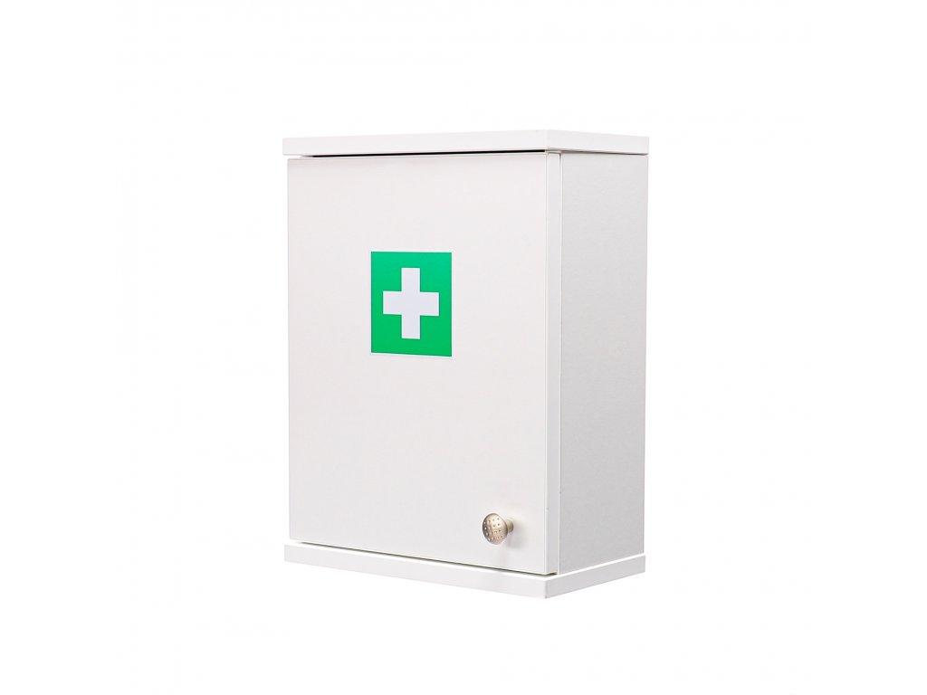 Lékárnička na pracoviště bílá ALFA-RESCUE  pro 20-100 osob 40x30x16.5 cm