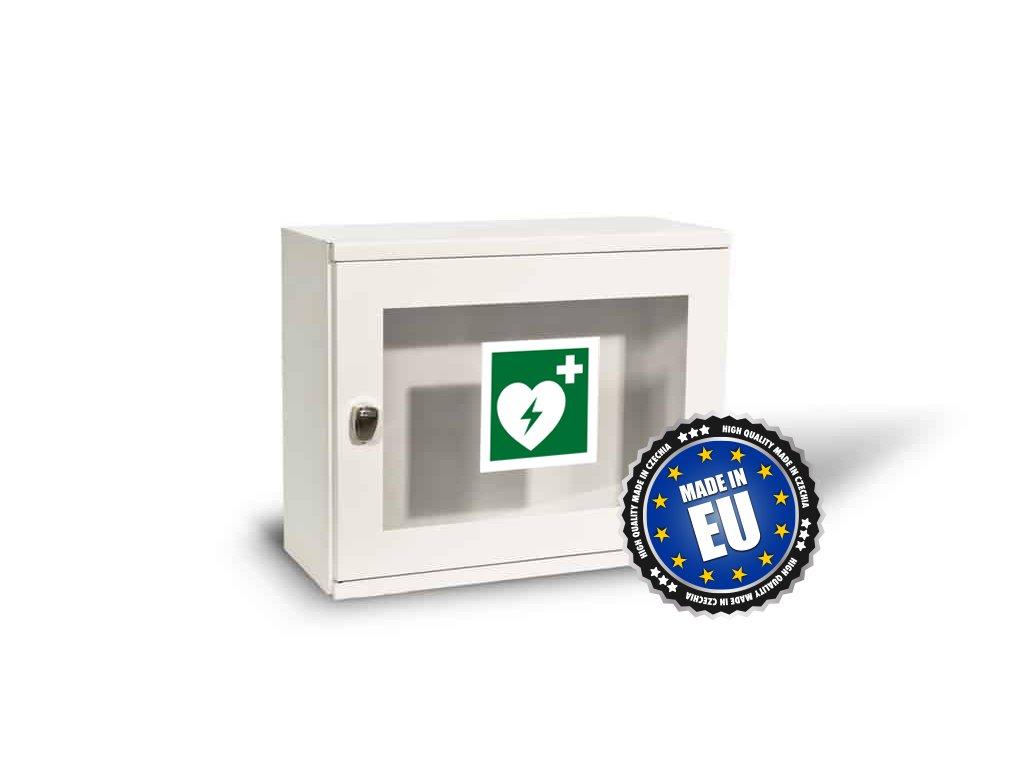 Skříňka na defibrilátor (AED) a alarmem