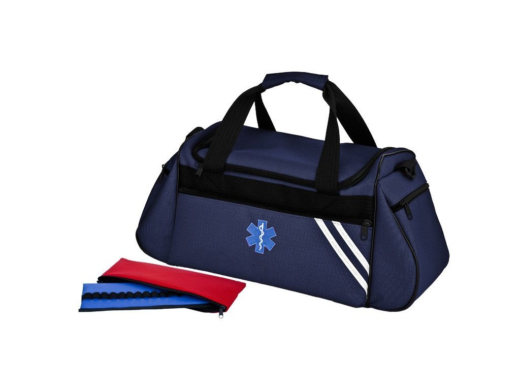 Brašna zdravotnická pro praktické lékaře a záchranáře velká 34 L  s ampuláriem -  TRM 44 modrá