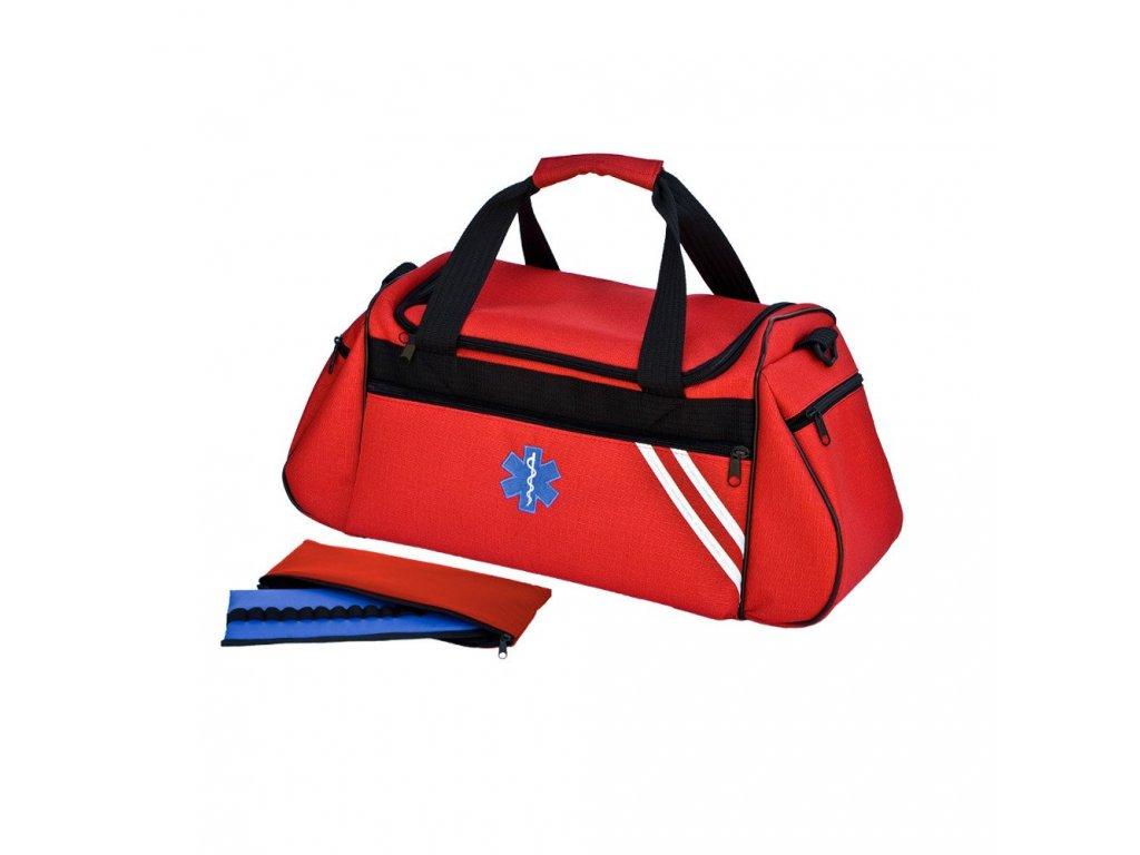 Brašna zdravotnická pro praktické lékaře a záchranáře velká 34 L  s ampuláriem -  TRM 44 červená