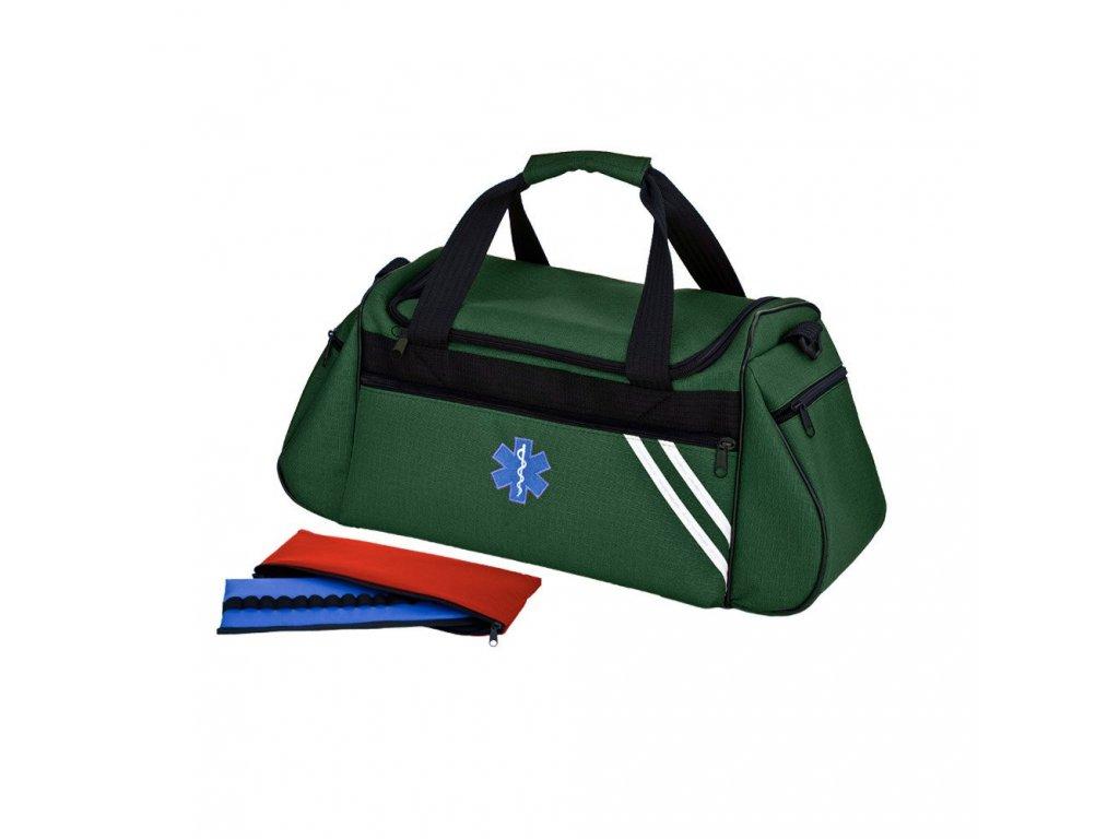 Brašna zdravotnická pro praktické lékaře a záchranáře velká 34 L  s ampuláriem -  TRM 44 zelená