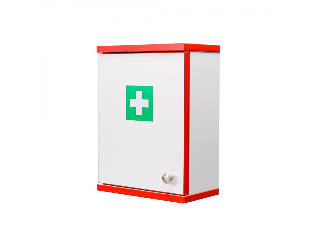 Firemní lékárnička na pracoviště červená ALFA-RESCUE  pro 15-50 osob 40x30x16.5 cm