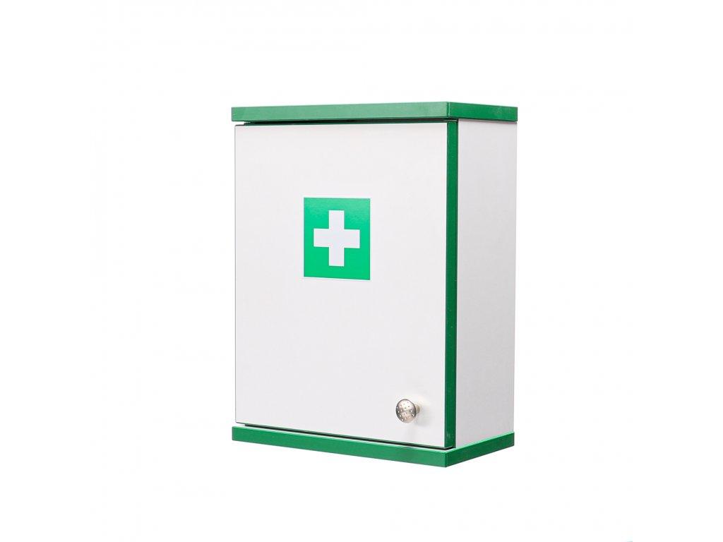 Firemní lékárnička na pracoviště zelená ALFA-RESCUE  pro 15-50 osob 40x30x16.5 cm