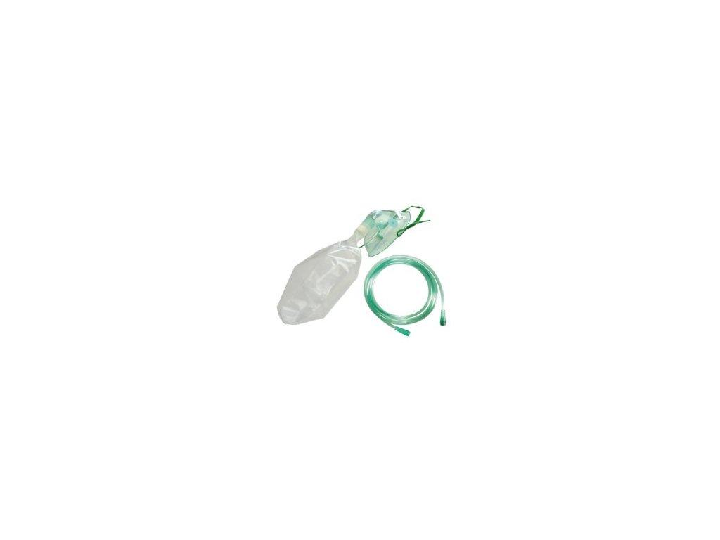 Maska 10 ks kyslíková s koncentračním sáčkem pro dospělé