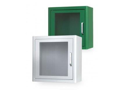 Nástěnná skříňka na AED s alarmem 38x38x20cm