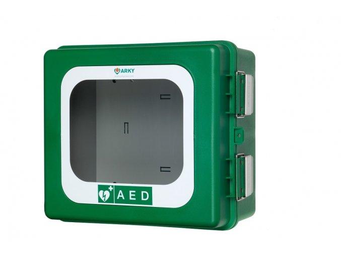 Box na defibrilátor venkovní s alarmem 40x34x20 cm