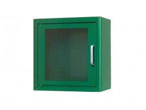 Skříňka na defibrilátor bez alarmu 38x38x20cm