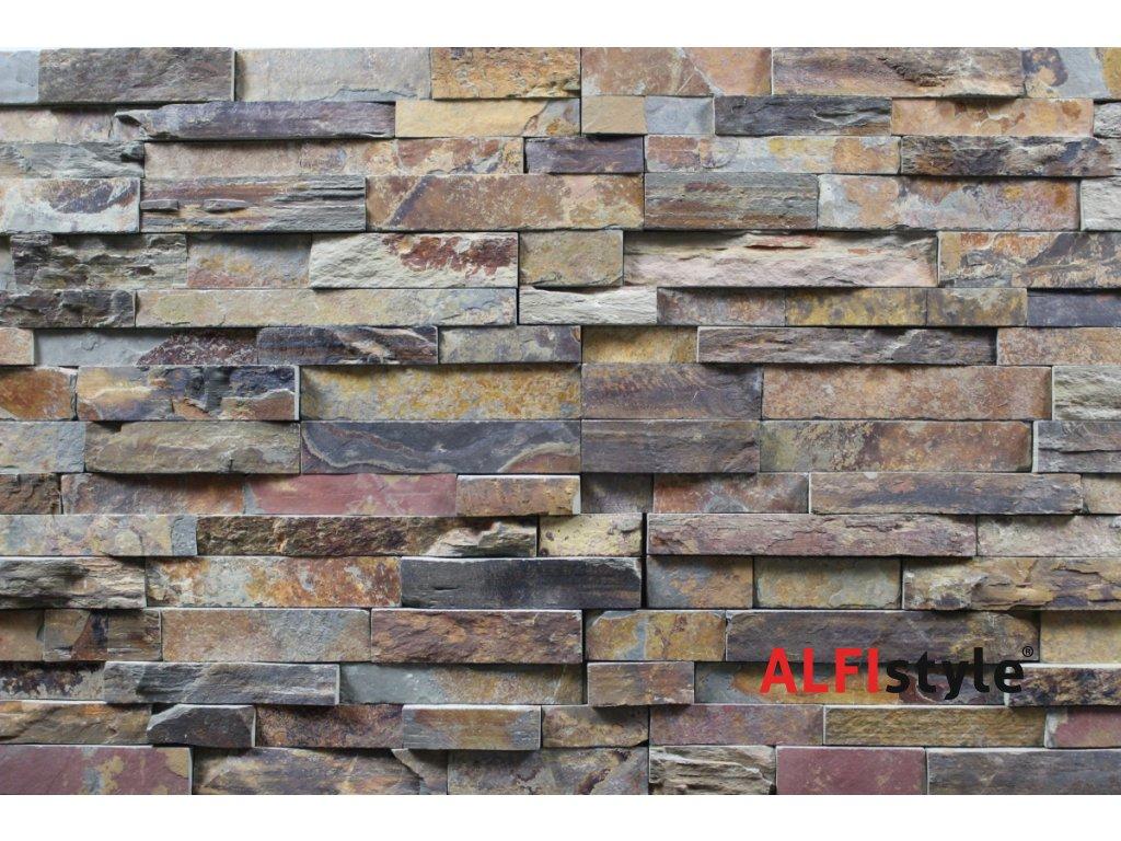 kamenný obklad multicolor břidlice BL005