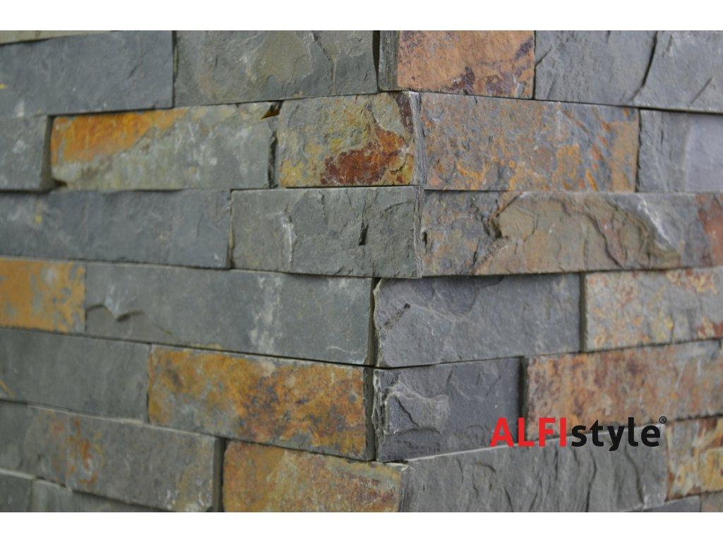 kamenný obklad z bridlice BL003 roh