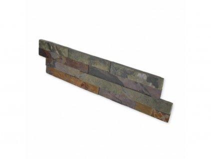 Kamenný obklad, břidlice multicolor 2, tloušťka 1,5-2,5 cm, ES003 - VZOREK