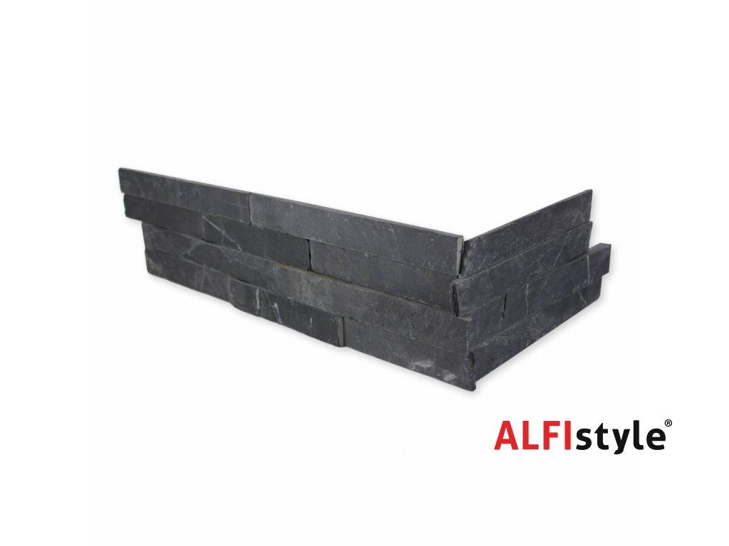 Kamenný obklad roh cerna bridlice ES001ROH 1