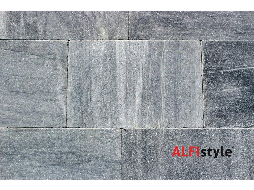 Kamenná dlažba z mramoru Silver grey, 60x40 cm, hrúbka 3 cm, NH101
