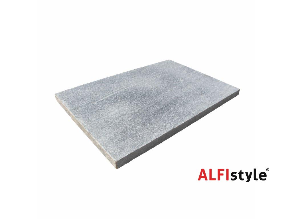 Kamenná dlažba z mramoru Silver grey, 60x40 cm, hrúbka 3 cm, NH101 - VZORKA