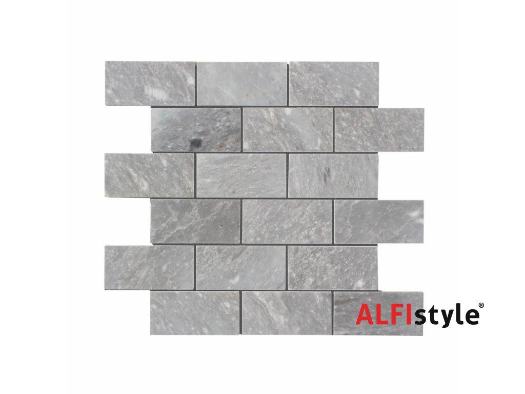 Kamenná mozaika z mramoru, Brick ocean vein, 30 x 30 x 0,9 cm, NH209 VZORKA