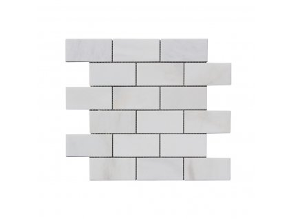 Kamenná mozaika z mramoru, Brick milky white, 30 x 30 x 0,9 cm, NH210 VZORKA