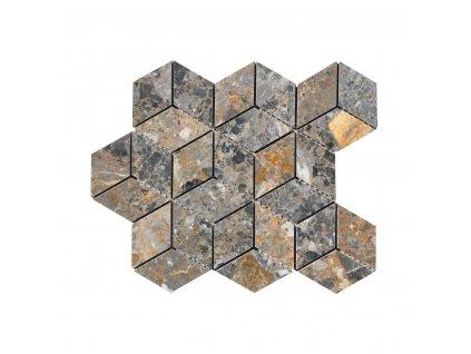 Kamenná mozaika z mramoru, Diamant multicolor, 30,7 x 27,8 x 0,9 cm, NH201 VZORKA