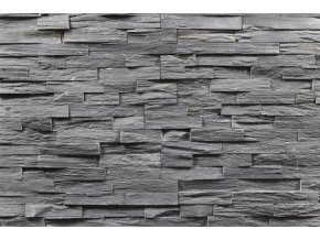 kamenný obklad černá břidlice BL002