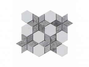 Kamenná mozaika z mramoru, Hvězda ocean vein, 30,5 x 24,7 x 0,9 cm, NH203