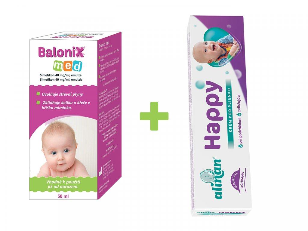 Balonix MeD + Alinan Happy krém pod plenku