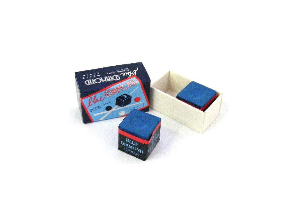 Kulečníková křída Blue Diamond 2ks, modrá