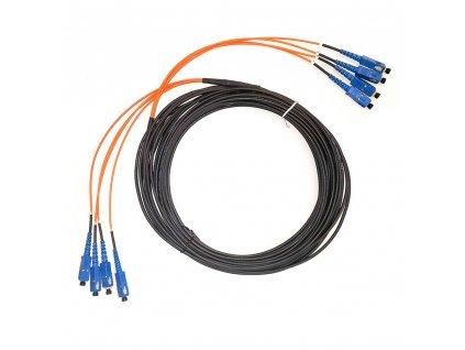 Optický kabel Samsung SM 9/125, 4 vl. konektory SC - SC, déllka 15m