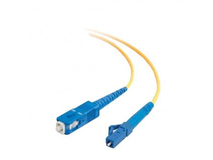 Patch kabel optický simplex LC-SC 09/125 1m SM