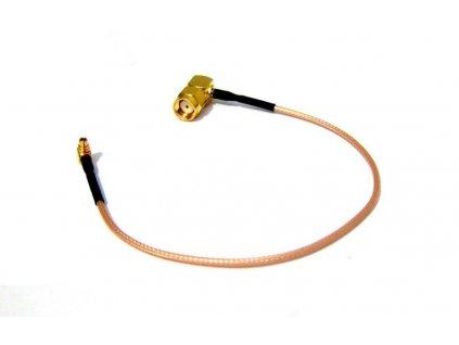 Pigtail RG316 MMCX male/RSMA male uhlový 90°