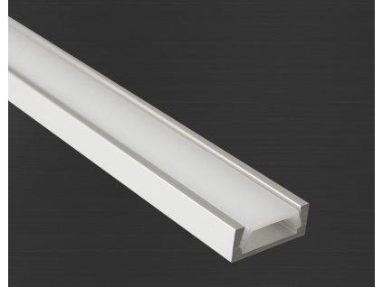 Hliníkový profil Prowax MICRO - ALU anodizovaný, bez difuzoru - 1m