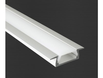 Hliníkový profil Prowax MICRO - K anodizovaný, bez difuzoru - 1m