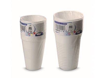 Kelímek Cleanex Trade plastový bílý 0,3l, 10 ks