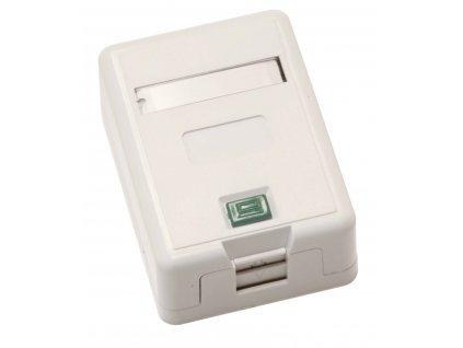 Zásuvka CAT5E UTP 1 x RJ45 na omítku bílá