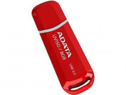 Flashdisk Adata USB 3.0 Dash Drive UV150 32GB červený (R: 90MB/s, W: 20MB/s)