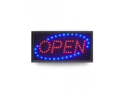 "LED tabule Securit LED SIGNS ""OPEN"" s plastovým rámem"