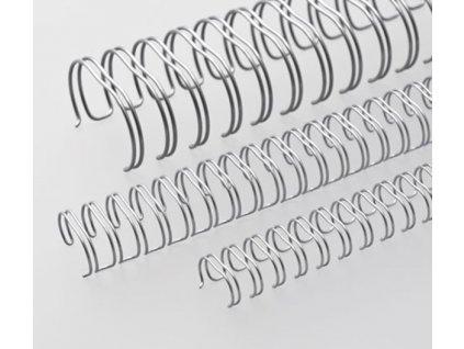 """Vázací hřbet RENZ kovový (3/1"""") A4 průměr 5,5mm stříbrný 100ks"""