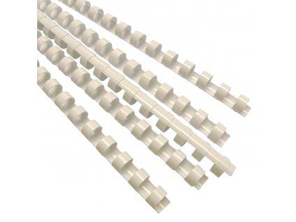 Vázací hřbet Eurosupplies / OEM plastový A4 průměr 8mm bílý 100ks